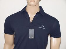 Armani Exchange Authentic Signature A|X Stretch Polo Shirt Navy NWT