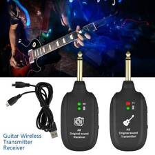 Wireless Guitar System 2.4G Rechargeable 6 Channels Audio Transmitter Receiver