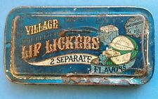 VILLAGE USA LIP LICKERS DOUBLE UP BALM WATERMELON ICE VINTAGE BOÎTE TIN BOX 1978