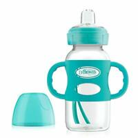 Dr. Brown's Options Wide-Neck Sippy Spout Baby Bottle with Silicone Handle,