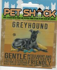 """CLASSIC SIGN AND DESIGN - """"GREYHOUND"""" DOG/PUPPY/STICKER           *NEW & SEALED*"""