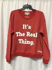 Wildfox Couture EXTREMELY RARE Red Coca Cola Crew Neck Sweat Shirt Size Small L6