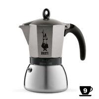 Bialetti Moka Induction Anthracite 9 Tasses Cafetière pour Surfaces de Cuisson