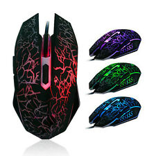 Professional Colorful Backlight 4000DPI Optical Wired Gaming Mouse Mice For LOL