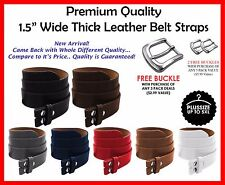 BLACK BROWN LEATHER BELT STRAP SNAP ON NO BUCKLE SOLID UNISEX MENS WOMENS BELTS
