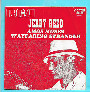"""JERRY REED    """" AMOS MOSES """"   (SP 2 titres TBE)"""