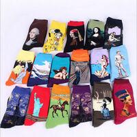 New Retro Vintage Unisex Women Men Modern Art Painting Funny Novelty Socks