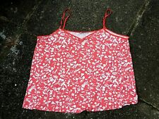 Orange/White Floral Patterned Cami Vest Top - Size 22 - New Without Tags