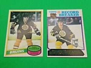1980-81 Topps Hockey #140 RAY BOURQUE RC Rookie & #2 Record Breaker