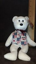 TY LIBERT-E the BEAR  BEANIE BABY - MINT with MINT TAG - TY EXCLUSIVE