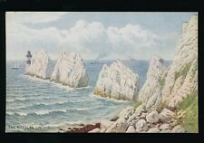 Isle of Wight The Needles Artist QUINTON Salmon #1092 c1930/40s? PPC