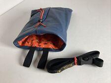 Beautiful Rugged Leather Chalk Bag -Lifetime Lasting -Made Usa -Halloween Liner!