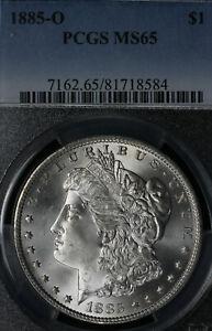 Beautiful GEM 1885-O Morgan Silver Dollar - PCGS MS65!
