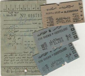 EGYPT old Railway Subscription & 3 Tickets 1958