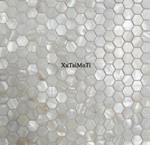 Hot 11PCS hexagon shell mosaic tile mother of pearl kitchen backsplash wall tile