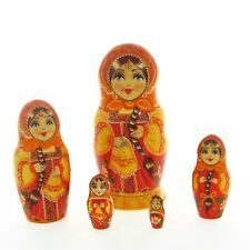 5 Poupées russes H15 peint main signé Matriochka Russian Nested Dolls Matrioshka