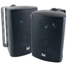 """Dual Lu47Pb 4"""" 3-Way Indoor/Outdoor Speakers (Black) Dullu47Pb"""