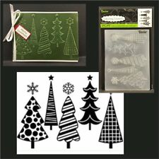 Fun Christmas Trees embossing folders Darice embossing folders 1219-424 holidays