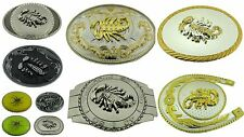 10 Belt Buckle Wholesale Lot Scorpion Zodiac Sign Western Closeout Rodeo Costume