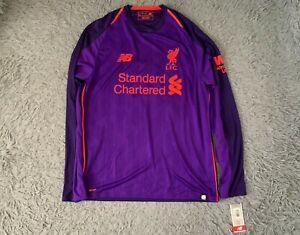Liverpool FC Away Rare Purple Long Sleeve Shirt Jersey 2018/2019 M BNWT