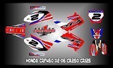 Honda CR125-250 02 and up SEMI CUSTOM GRAPHICS KIT Canard HRC