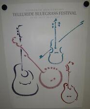 15th Anniversary Telluride Bluegrass Festival Vintage Original 1988 Poster Print