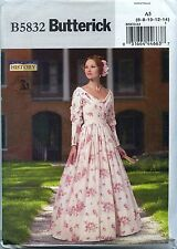 NEW Reproduction Historical Dress Boned Corset Advanced size 6-14 Butterick 5832