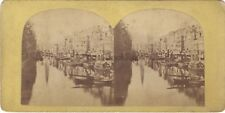 Hambourg Allemagne Photo Stereo Vintage albumine ca 1860