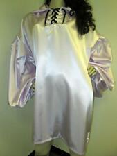 "Vintage: Satin! ""Special Cut� Lilac Satin Balloon Shirt"