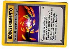 POKEMON ITALIANO RARE BASE N°  79/102 SUPER-RIMOZIONE DI ENERGIA