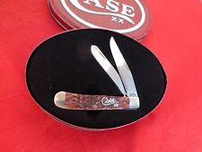 Case XX USA 2001 Script Shield bone new in tin box 6254 trapper knife