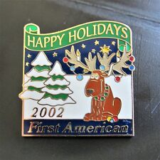 Pin Hat Pin Scatter Pin G48 Happy Holidays Pin 2002 First American lapel