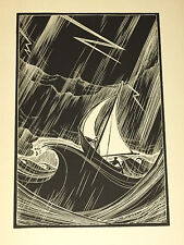 """Woodcut Print from Lynd Ward's Gods' Man  1933  Image from """"Novel in Woodcuts"""""""