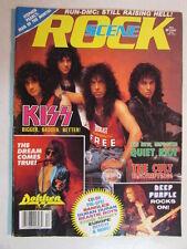 ROCK SCENE MAGAZINE DEC 1987 KISS CRAZY NIGHTS RUN DMC ARTICLES,DOKKEN THE CULT