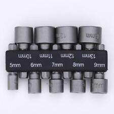 "9pcs 1/4"" Hex Magnetic Nut Driver Socket Set Metric Impact Drill Bits 6mm-13mm"