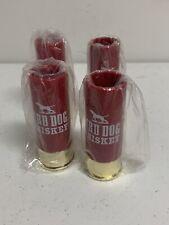 "Bird Dog Whiskey Red Plastic 12 GA. Shotgun Shell 4"" Shot Glasses (4)"