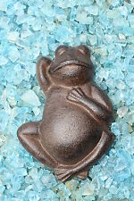 Frosch Gusseisen Gartenfigur Deko Dekofigur