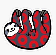 """Phish Sloth Donut Sticker 3.5"""" x 3"""" Free Shipping"""