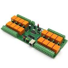 USB 16 Canaux Carte Relais, VCP - Di casa intelligente, domotica, 12V