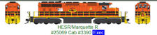 BOWSER (HO) 25071 HESR/MARQUETTE GMD SD40-2 RD# 3390  DCC/LOKSOUND - NEW