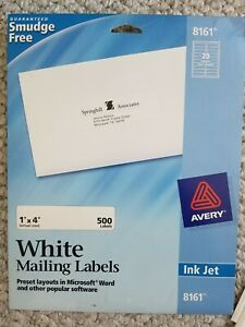 Avery 8161 White Mailing Labels - 12 Full Sheets