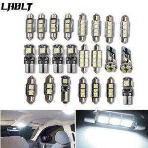 23Pc LED White Bulb Car Light Inside Reverse Light Dome License Plate Lamp Error