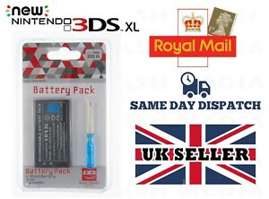 REPLACEMENT BATTERY FOR NINTENDO 3DS XL CONSOLE 2500MAH WITH SCREWDRIVER - NEW