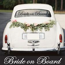 Wedding Day Car Sticker - Bride on Board - Window Decoration Vinyl Decal Sign
