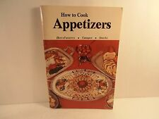 1976 How to Cook Appetizers edited by Abe Dobkin 96 pages PB