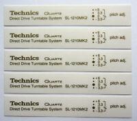 5 x Technics SL1210 mk2 decal sticker self adhesive transparent - Printed GOLD