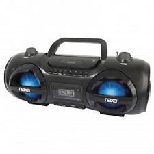 NAXA NPB-258*MP3/CD Party Boombox and USB/SD Player*with AM/FM RADIO*LED LIGHTS!