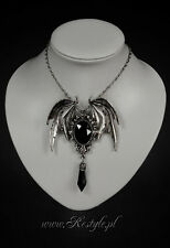 RESTYLE DELLA MORTE BLACK BAT SCARY HALLOWEEN GOTHIC EMO HORROR CHARM NECKLACE