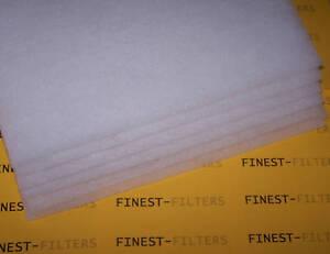PACK OF 6 DIY FILTER WOOL SHEETS AQUARIUM POND FILTER