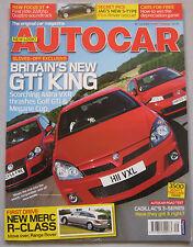 Autocar 1/7/2005 featuring Cadillac, Pagani Zonda, Renault, Vauxhall,VW Golf GTi